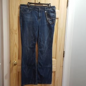 Cache chain distressed jeans